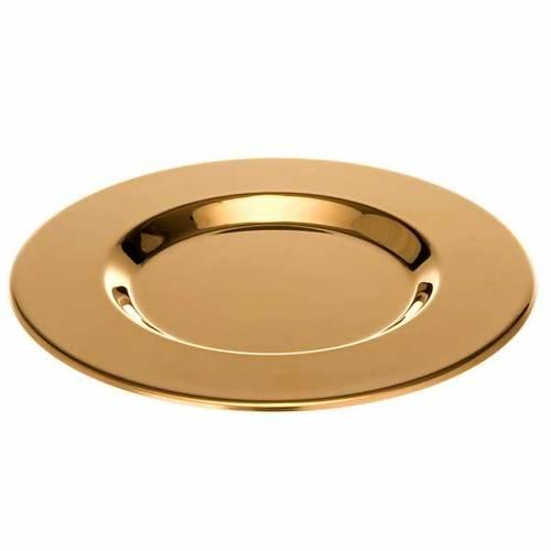 Patène laiton doré fond modelé s1