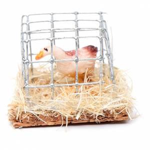Animales para el pesebre: Pato enjaulado 2.5cm miniatura pesebre surtido