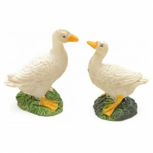 Patos en resina para pesebre set 2 pz s1