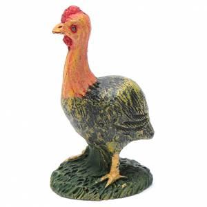 Animales para el pesebre: Pavo de resina para belén 13 cm