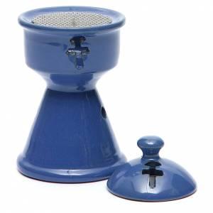 Pebetero etíope cerámica azul s3