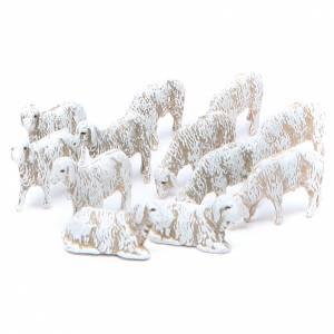 Presepe Moranduzzo: Pecorelle 6 cm Moranduzzo set 12 pezzi