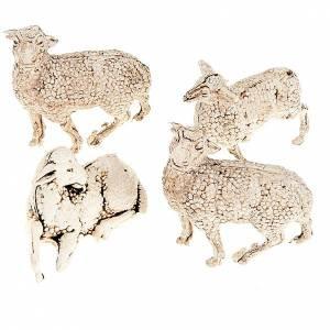 Pecorelle presepe set 4 pz. cm 8-10 s1