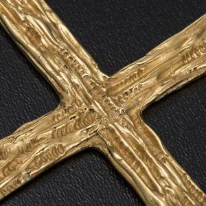 Pectoral cross made of gold-plated sterling silver s4