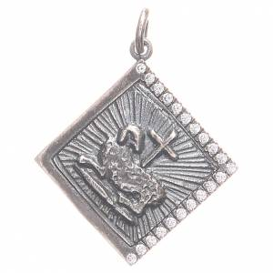 Pendant charm in 800 silver with God's Lamb 1.7x1.7cm s1