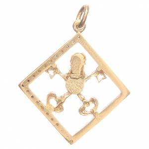 Pendant charm in 800 silver with Vatican keys 1.7x1.7cm s2