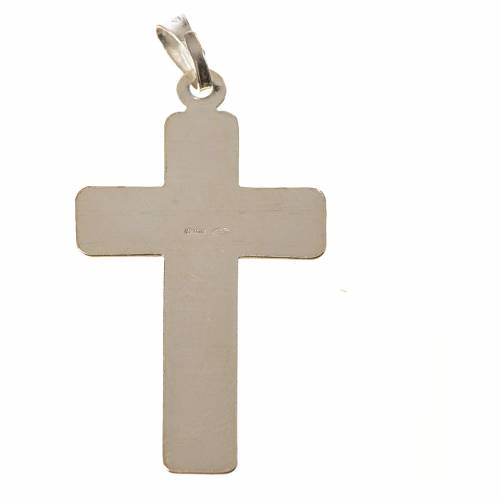 Pendant cross in 800 silver, squares s2