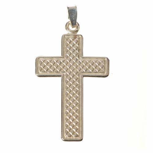 Pendant cross in 800 silver, squares s1