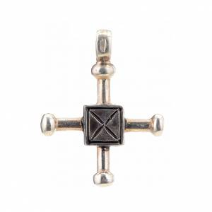 Pendant cross Saint Geminianus in sterling silver 2,7x2,2cm s1