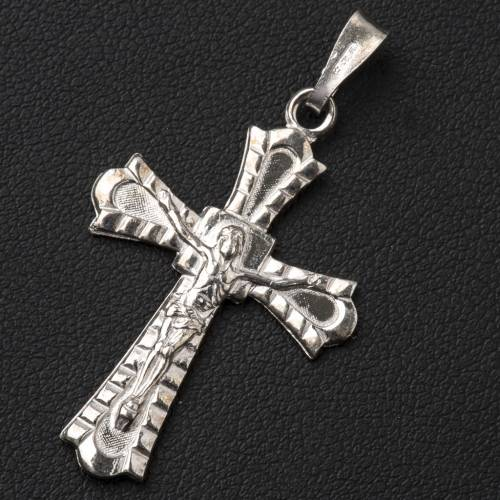 Pendant crucifix in 800 silver, Gothic style s2