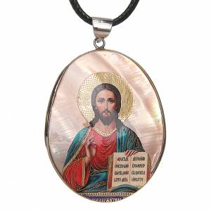 Pendant Pantocrator natural mother-of-pearl s1