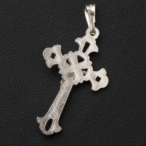Pendant, perforated crucifix in silver 3x2cm s3