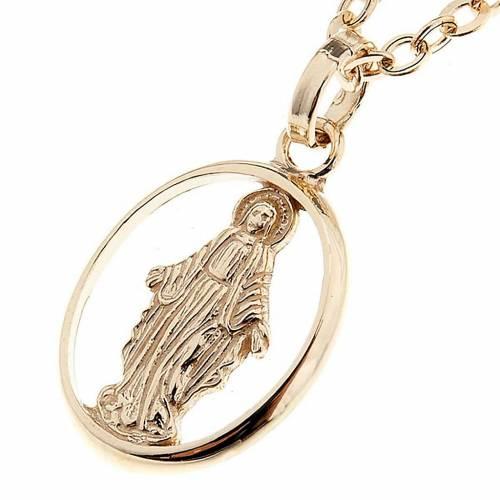 Madonna Miracolosa collana oro 750/00 - gr. 1,30 s1