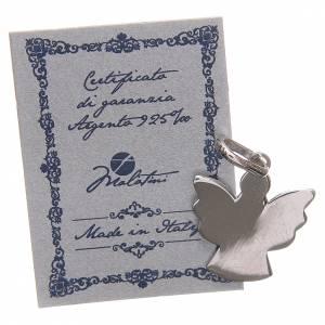 Pendentif ange argent 925 avec prière ange de Dieu ITA 1,7 cm s2
