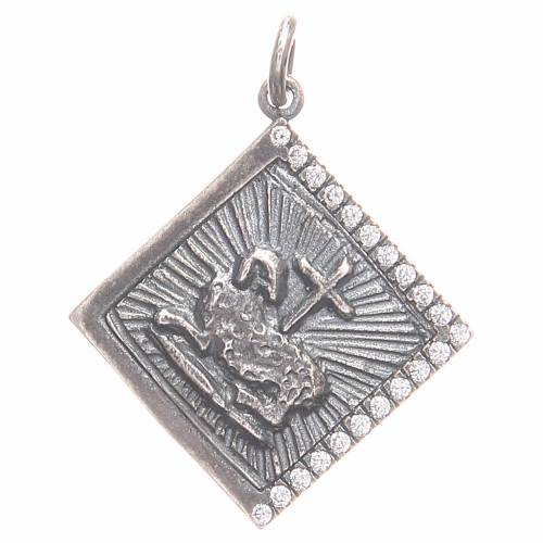 Pendentif argent 800 Agnus Dei 1,7x1,7 cm s1