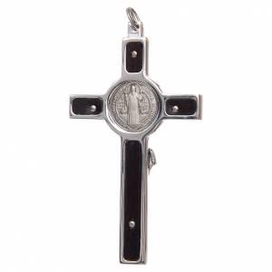 Croix de St. Benoît: Pendentif croix de Saint Benoit argent 925