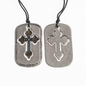 Pendentifs croix métal: Pendentif croix trilobée émaillée