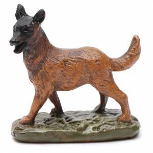 Animales para el pesebre: Perro de resina para belén 10 cm Línea Martino Landi