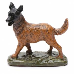 Animales para el pesebre: Perro de resina para belén 12 cm Linea Martino Landi