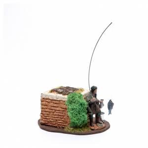 Pescador de pie 10 cm de pvc con movimiento s2