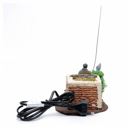 Pescatore in piedi 10 cm in pvc con movimento s4