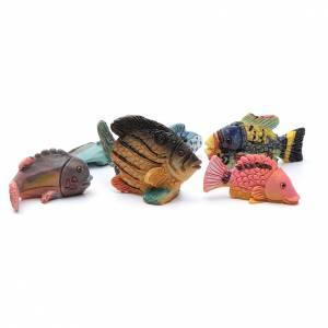 Animali presepe: Pesci presepe resina 6 pz h reale 3 cm