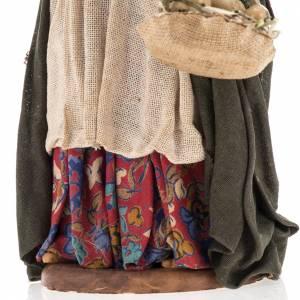 Pesebre mujer anciana con cestas de huevos 14 cm s3