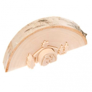 Belén Val Gardena: Pesebre tallado madera natural