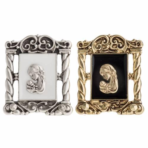 Petit carreau Marie et Jésus 6x5 cm s1