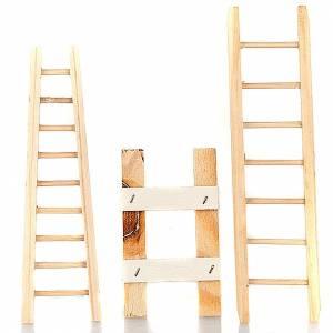 Petits escaliers pour crèche Noël 3 pièces s1