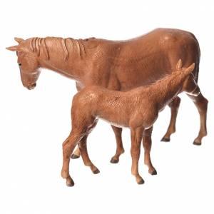 Krippe Moranduzzo: Pferd und Fohlen 8cm Moranduzzo