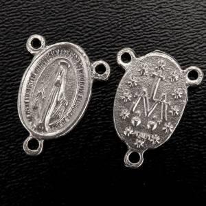 Rosario Hecho por TI: Pieza central metal medalla milagrosa para la fabricación