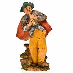 Figuras del Belén: Pífano con capa 13 cm.