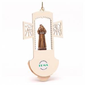 Pila Agua bendita San Padre Pío madera tallada s2