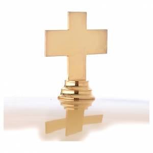 Fuentes bautismales: Pila Bautismal dorada decoración lacada azul