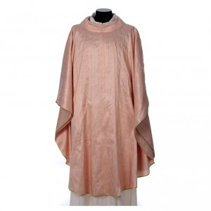 Chasubles: Pink Chasuble in pure Shantung silk