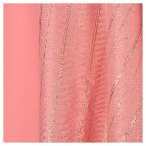 Pink Chasuble in pure Tasmanian wool with double twisted yarn s4