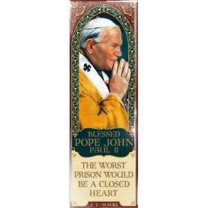 Magnets religieux: Planche de Jean-Paul II - eng. 01
