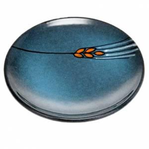 Platillo cubre cáliz, cerámica color turquesa s1