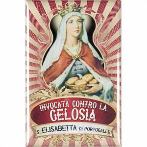 Religiöse Magnete: Platte Heilige Elisabetta aus Portugal lux