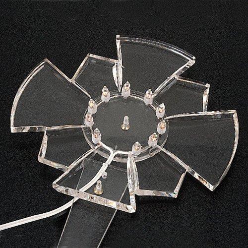 Plexiglas luminous halo with bulbs s3