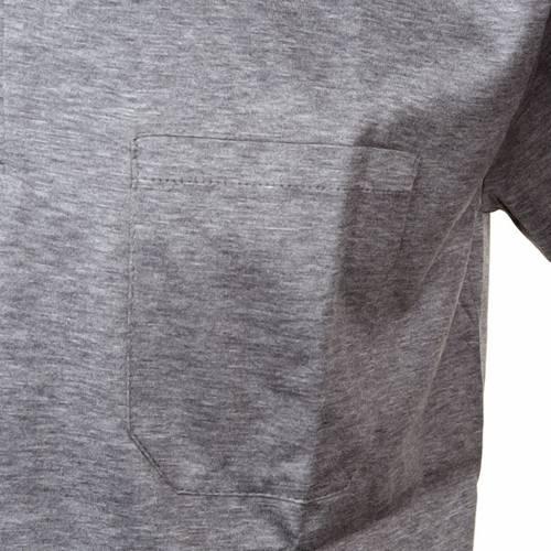 Polo colletto civile grigio chiaro filo di Scozia s3