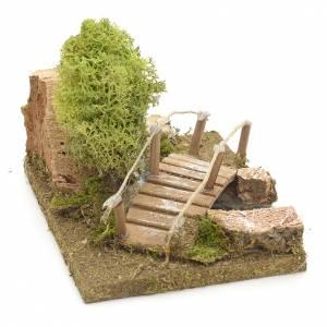 Pont en miniature avec lichen et roche en liège s3