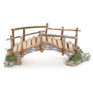 Ponte presepe, ruscelli, staccionate: Ponte presepe con sponde 10x23x8