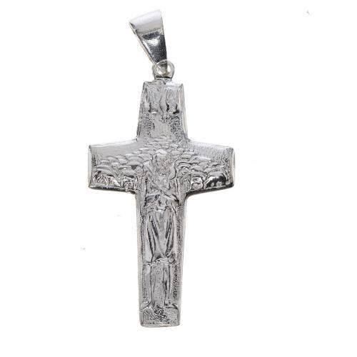 Pope Francis, Good Shepherd cross 800 silver s1