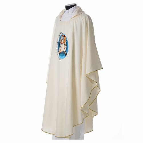 STOCK Pope Francis' Jubilee Chasuble with Latin writing s2
