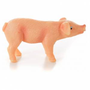Porc en résine crèche de noël, 6-8-10 cm s1