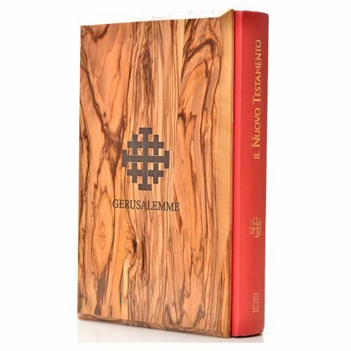 Porta Evangelio manos juntas madera de olivo s8