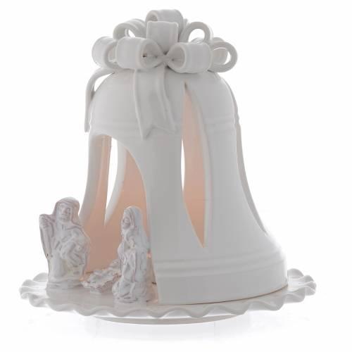 Portacandele forma campana terracotta Deruta 17 cm s2