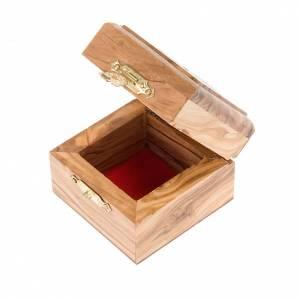 Portarosarios: Portarosario caja de olivo Jerusalen
